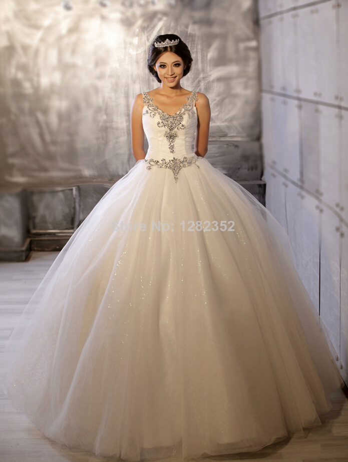 2014 New Fashion White and Gold Wedding Dresses Patterns-in Wedding ...
