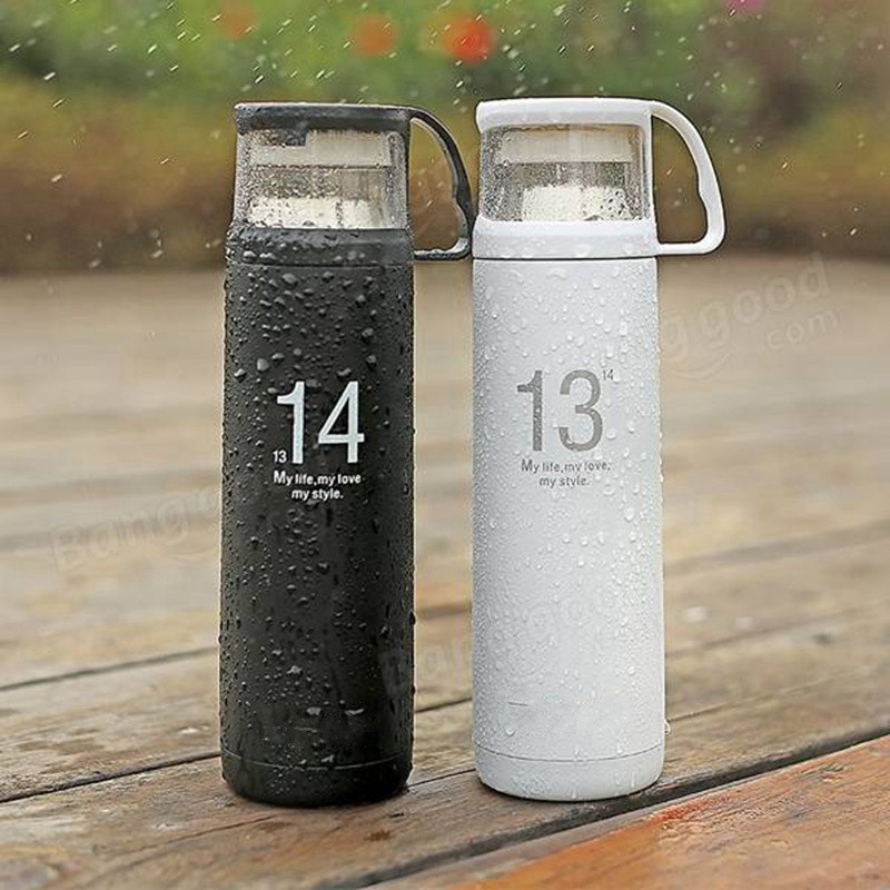 Best Promotion <font><b>One</b></font> <font><b>Life</b></font> <font><b>One</b></font> <font><b>Love</b></font> 1314 Lover Stainless Steel Vacuum Flask Thermoes Cup Portable Travel Mug Outdoor Water Bottle