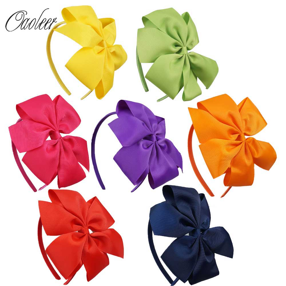 High Quality 7 Pcs/Lot Pinwheel Bow Hairband For Children Ribbon Hair Bow Hairbands For Kids Hair Accessories ZH7-1310183 free shipping 4 4 size 430c pernambuco cello bow high quality ebony frog with shield pattern white hair violin parts accessories