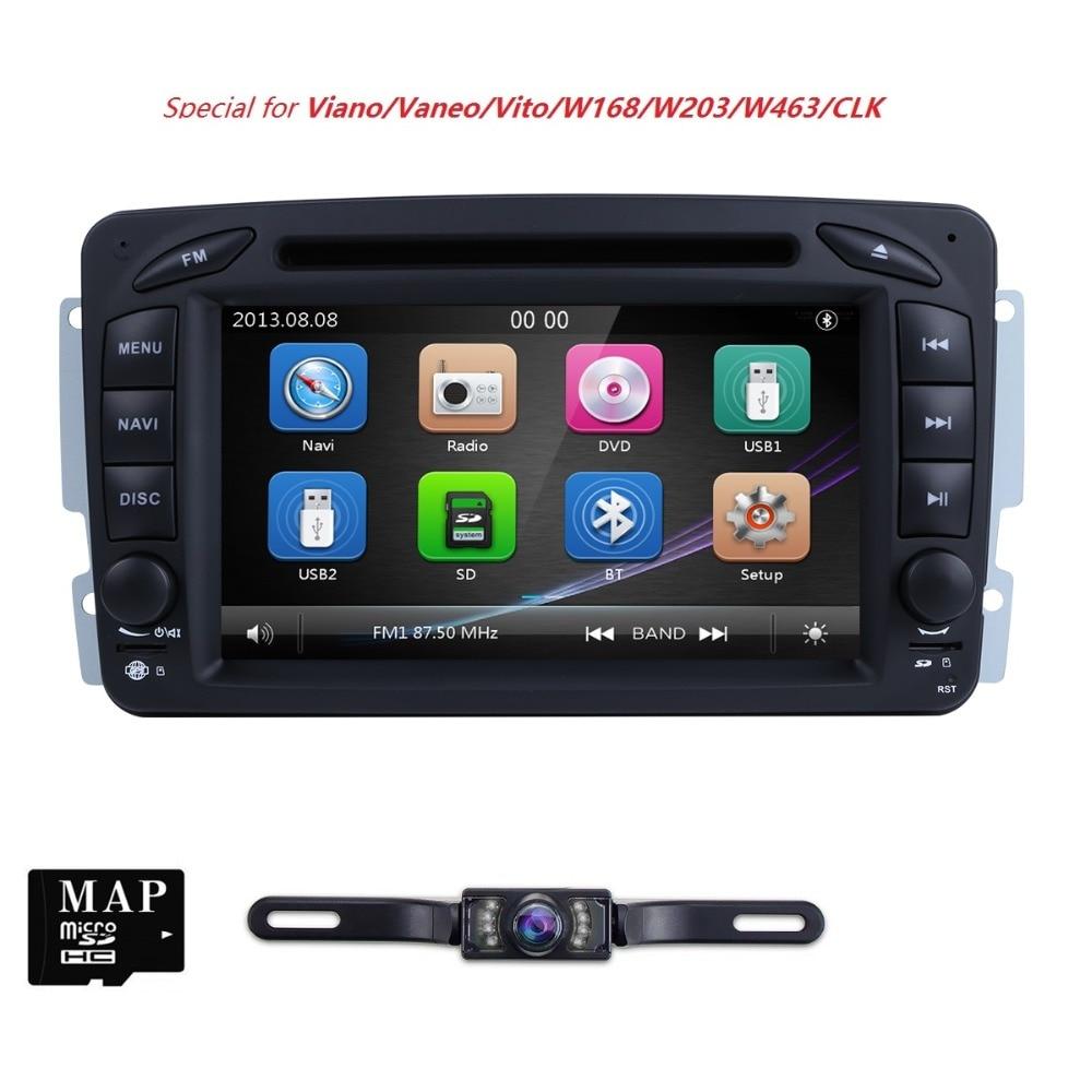 2 Din 7 Pouces Lecteur DVD de Voiture Pour Mercedes/Benz/CLK/W209/W203/W208/ w463/W170/Vaneo/Viano/Vito/E210/C208 Canbus FM GPS Radio BT CAM