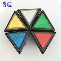 5 Colors Arcade Button 5V/12v Triangle LED Arcade Push Button with microswitch white circle illuminated