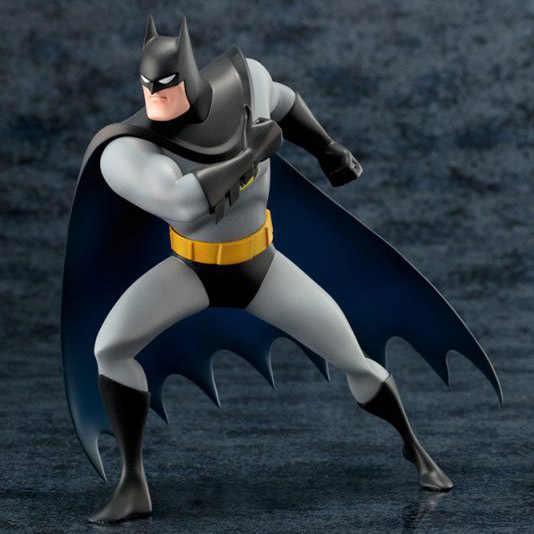 """חם 1 יחידות 18 ס""""מ דמות אנימה brinquedos צעצועי ARTFX DC באטמן אנימציה פעולה איור אסיפה דגם"""