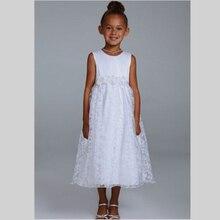 2015 New Arrival White Lace Flower Girl Dresses For WeddingsTank Kids Beauty Pageant Dresses Vestido De Daminha Custom Made