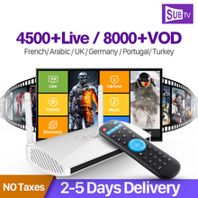 Android 4.4 Smart IPTV Set Top Box 4K RK3128 ARM Cortex A7 Quad Core 1G 8G with Europe Arabic Africa UK USA Brazil IPTV Channels cubieboard7 actions soc s700 arm cortex a53 quad core 2g lp ddr3 8g emmc development board android linux open source