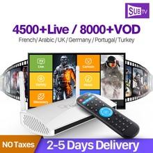 Android 4.4 Smart IPTV Set Top Box 4K RK3128 ARM Cortex A7 Quad Core 1G 8G with Europe Arabic Africa UK USA Brazil IPTV Channels цена и фото
