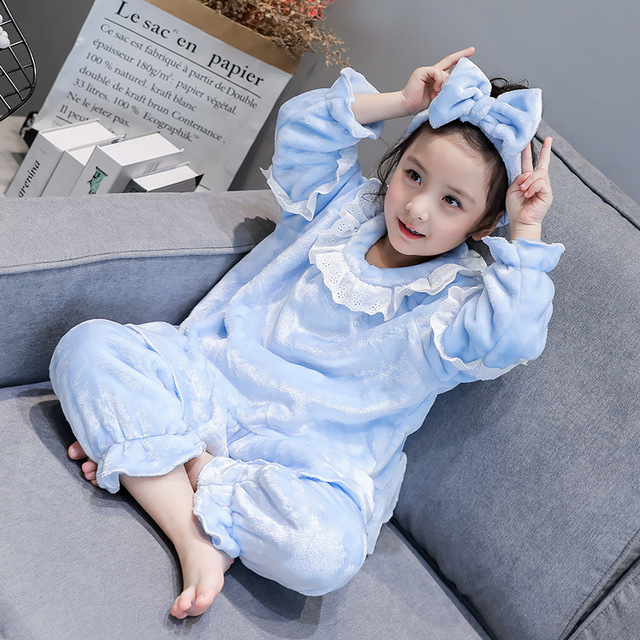 Girl's Long Sleeved Cute Princess Pajamas