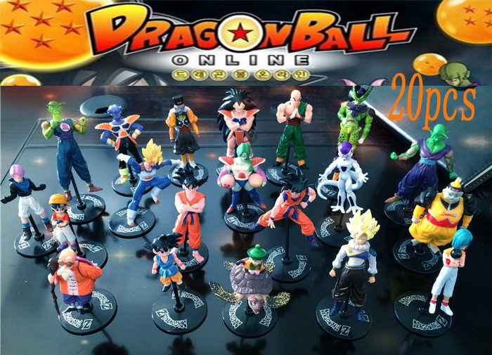 20ps Dragonball Z Dragon Ball Dbz Goku Piccolo Action Figures Toys Children Kids Christmas Gift Classic Collection Set Toy Anime 7cm large size jp hand done animation crystal dragon ball set genuine model toy gift action figures anime toys kids