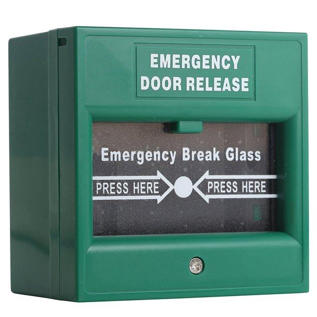 Porte De Secours Sortie Filaire De Sécurité Bouton Mains Pause Verre - Porte de secours