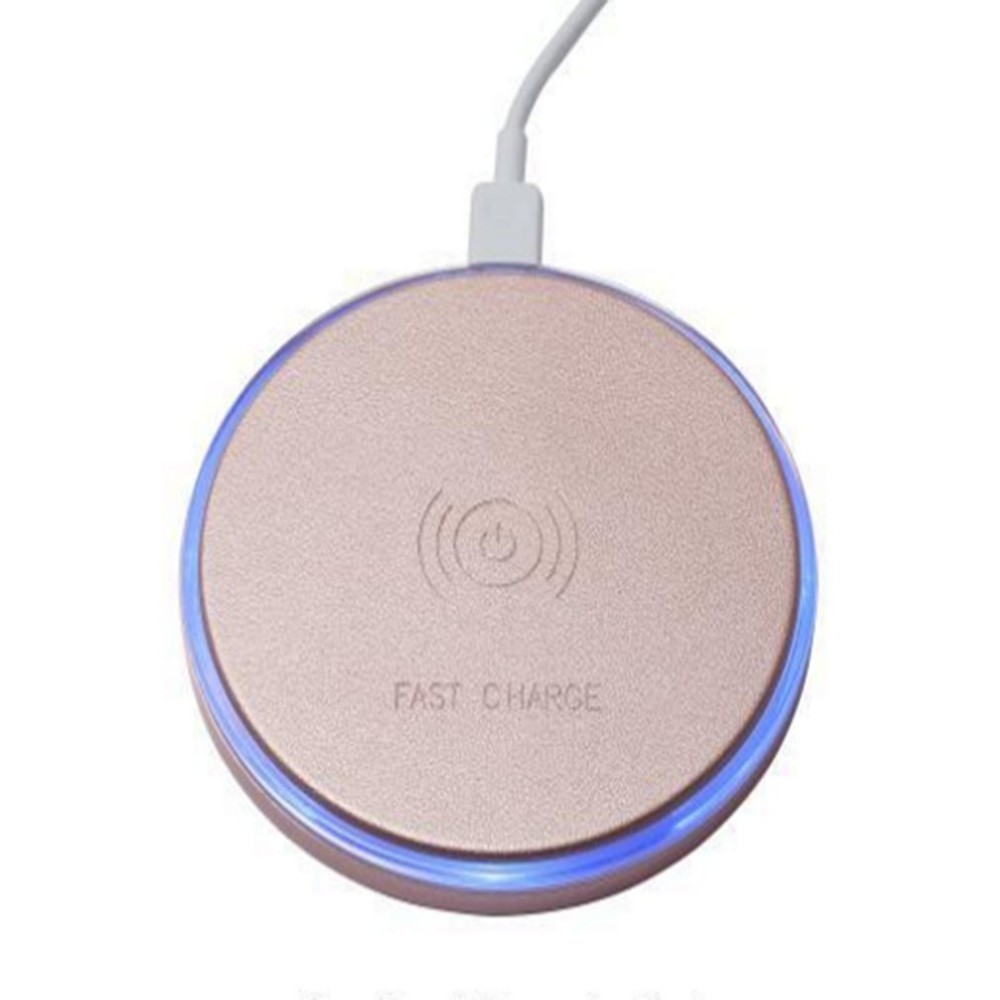 Round Universal Mobile Phone Wireless Charger Portable Wireless Fast Charger With Led Soft Light Indicator Up-To-Date Styling Consumer Electronics