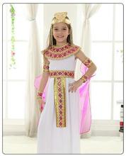 Halloween childrens costume Cosplay dress girls dress, ancient Egypt, Greek princess Children stage performance