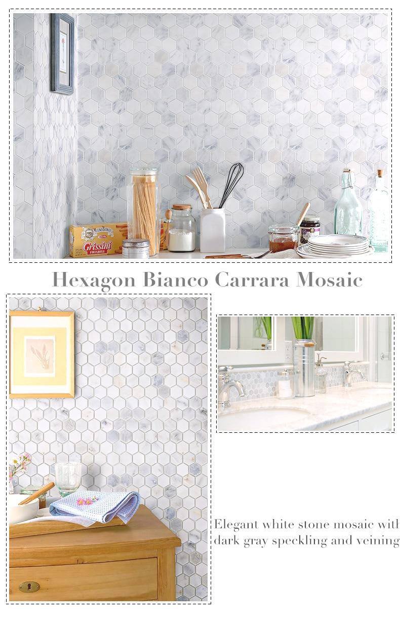 Us 228 0 Honeycomb Carrara Marble Stone Tiles Kitchen Backsplash Bathroom Shower Wall Floor Decor Home Improvement Free Shipping Lsmbh05 In