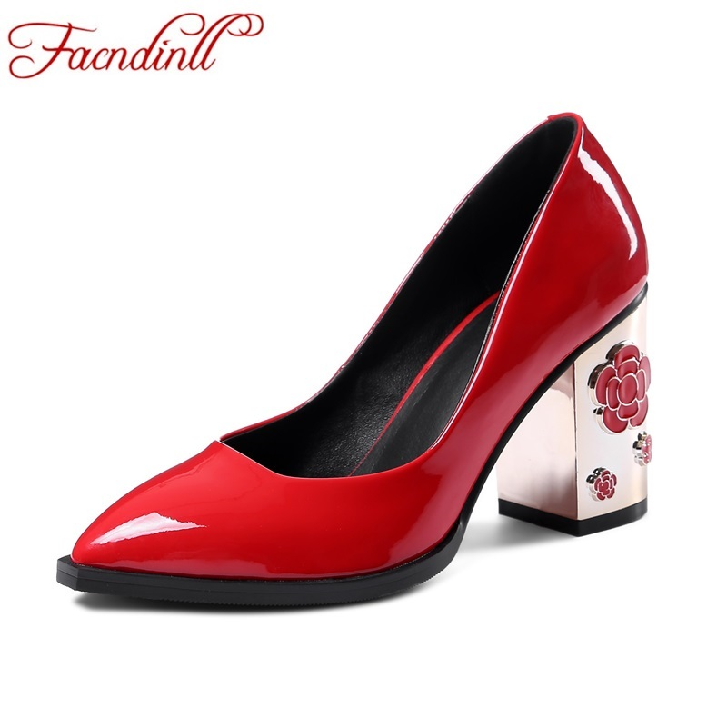 plus size 34-43 new 2017 fashion genuine leather women pumps sexy high heel pointed toe platform shoes woman wedding party shoes plus big size 34 52 shoes woman 2017 new arrival wedding ladies high heel fashion sweet dress pointed toe women pumps e 177
