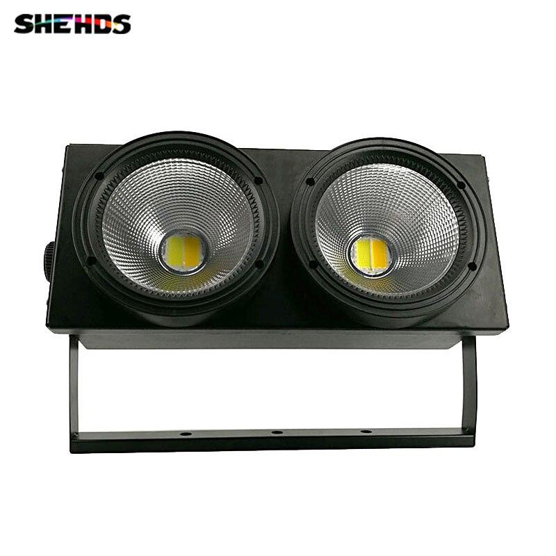 2 pcs/lot 2 yeux 2x100 W CHAUDE LED COB Lumière DMX 2 Canaux Éclairage de scène Effet Led Blinder Lumière Frais et Chaud Blanc son Actif