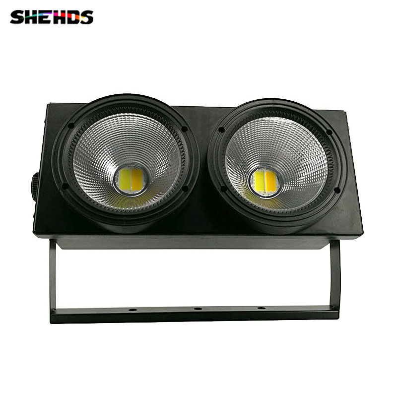2eyes 2x100W HOT LED COB Light DMX 2 ChannelsS tage Lighting Effect Led Blinder Light Cool White and Warm White Sound-Active
