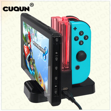 4 in 1 LED Charging Dock Station Charger Cradle For Nintend Switch N-Switch Video Game Console Charger Stand USB Type