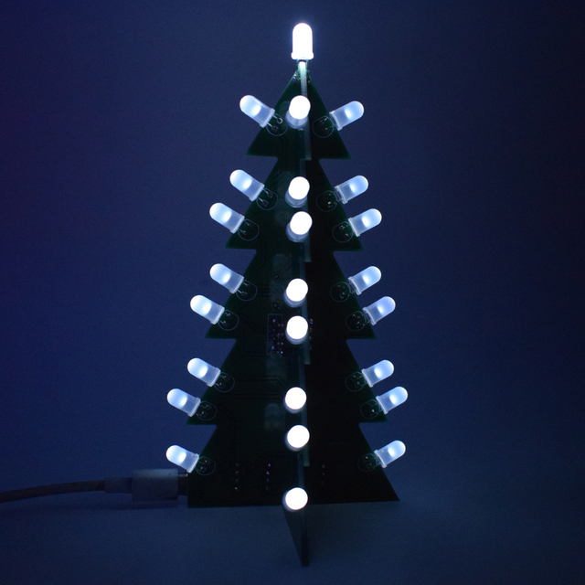 Diy star flashing 3d led light decoration christmas tree electronic diy star flashing 3d led light decoration christmas tree electronic learning kit module switching different effect solutioingenieria Image collections