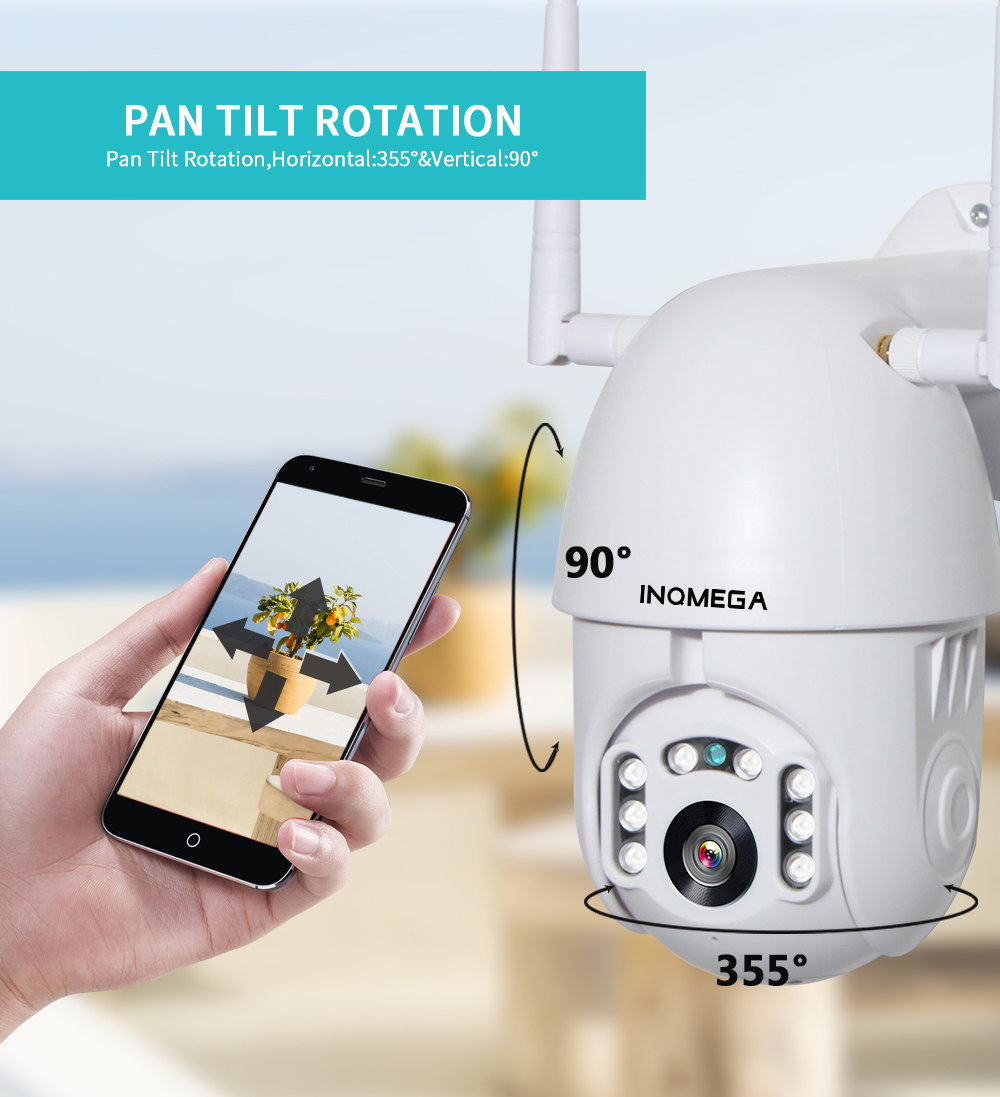 HTB1gyDkefWG3KVjSZPcq6zkbXXaC INQMEGA IP Camera WiFi 1080P Wireless Auto tracking PTZ Speed Dome Camera Outdoor CCTV Security Surveillance Waterproof Camera