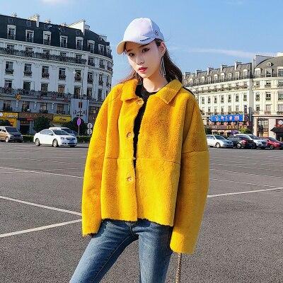 Новинка 2018 года. Женское пальто из искусственного меха ярких цветов M3