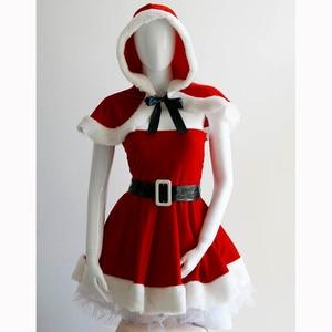 Image 4 - ユニークな2016高品質赤いセクシーなクリスマス衣装レディース包まれた胸ミニサンタドレスファッションクリスマスサンタ衣装W444047