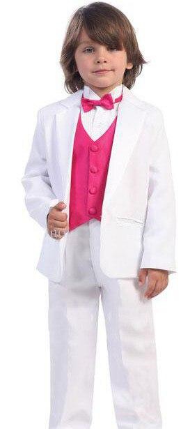 Top vente/Design personnalisé taille et couleur enfant tuxedos/enfants costumes costume de mariage garçons tenue (veste + pantalon + cravate + gilet)