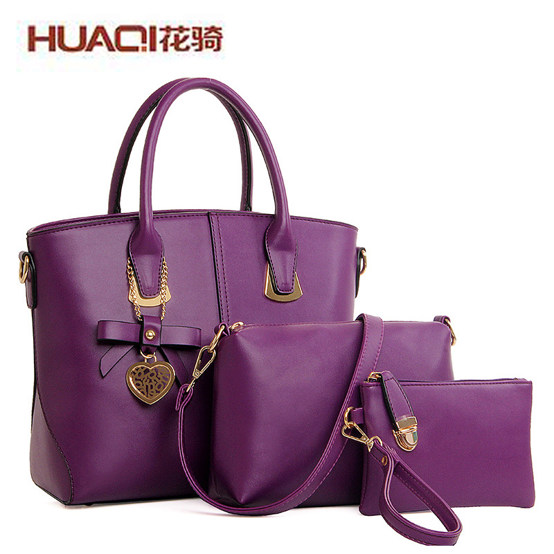 New Famous Brand Leather Bags For Women Fashion 3 pcs Women's Bag Set Casual Shoulder Bad Female Messenger Bags Bolsas HQ6692#