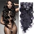 7а дешево перуанский волна клип в наращивание волос 7 / 10 шт. 70 г - 220 г перуанский в реми наращивание волос модулей