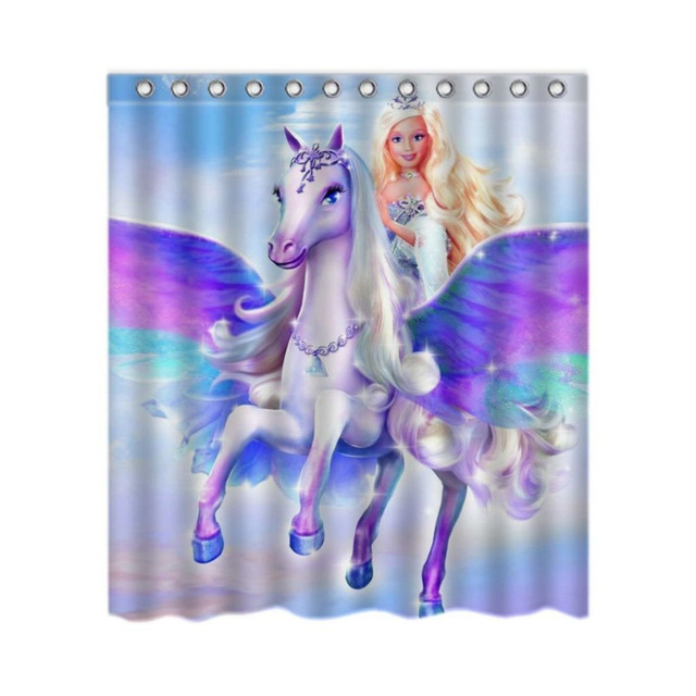 Tende da Doccia bagno Barbie Film unicorno 180x180 cm Eco friendly ...