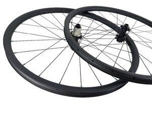 Image 4 - 650B XC 산악 자전거 카본 휠 30mm 후크리스 27.5er 튜브리스 휠셋 3K UD 12K 블랙 레드 실버 블루 그린 골드 니플