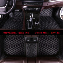 OLPAY Mat Leather Car Floor Mats For Audi A6L R8 Q3 Q5 Q7 S4 S5 S8 RS TT Quattro A1 A2 A3 A4 A5 A6 A7 A8 Foot Pad Carpet Cover