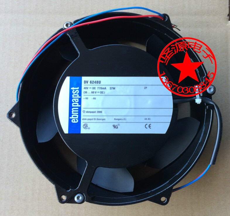Original ebm-PAPST DV6248U 48V 37W 17cm ABB Drive Waterproof Fan полюс abb 1sca105461r1001