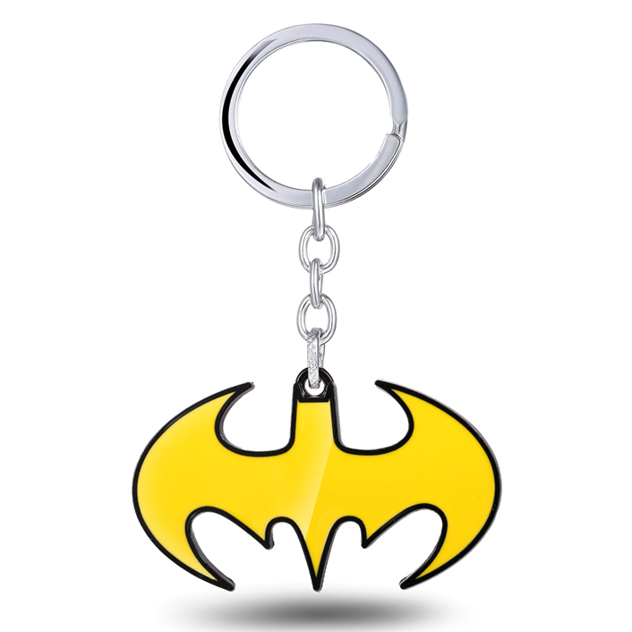 MS JEWELS Superhero Batman Bat Logo Keychain Metal Key Rings For Gift Chaveiro Key Chain Jewelry