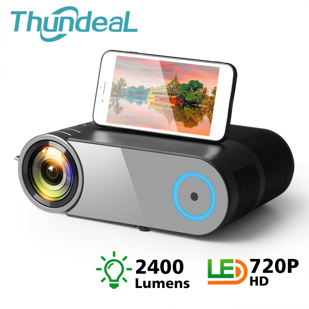 ThundeaL YG420 Mini Projector 2400 Lumens Support 1080P Video HD Mini Beamer Portable HDMI VGA Home Theater YG421 LED Projector