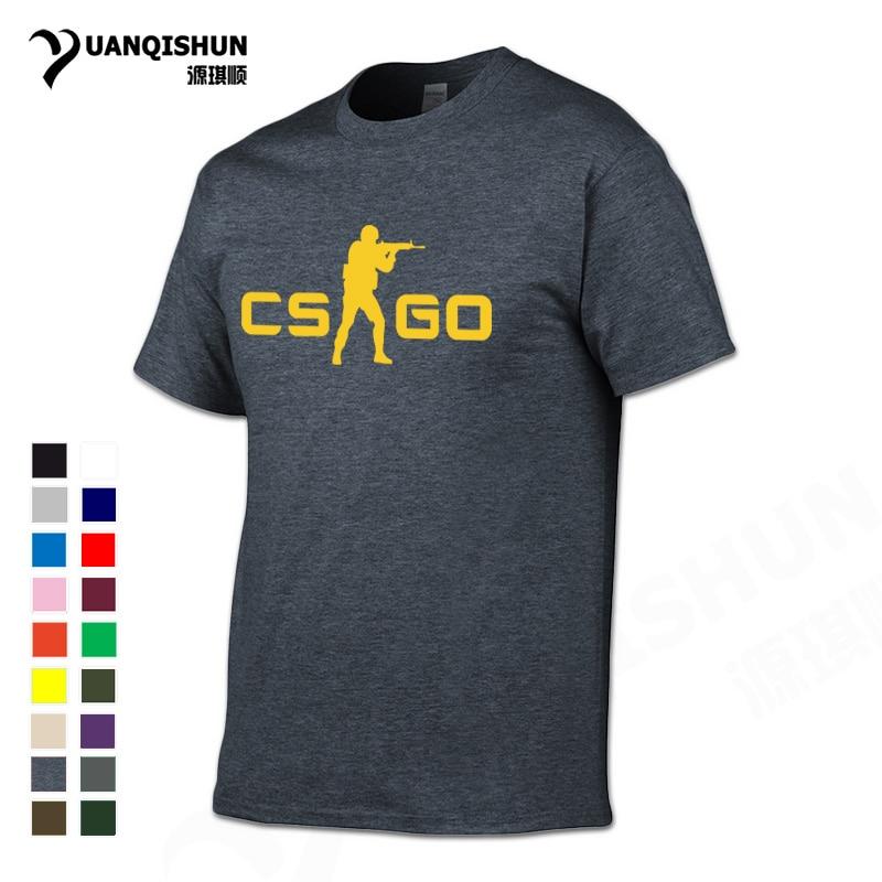 YUANQISHUN CS GO Tshirts Csgo Team Gamers   T     Shirt   Men 2017 Hot Sell Top Quality Brand   T  -  shirt   Fashion Hip Hop Street Cotton Tee
