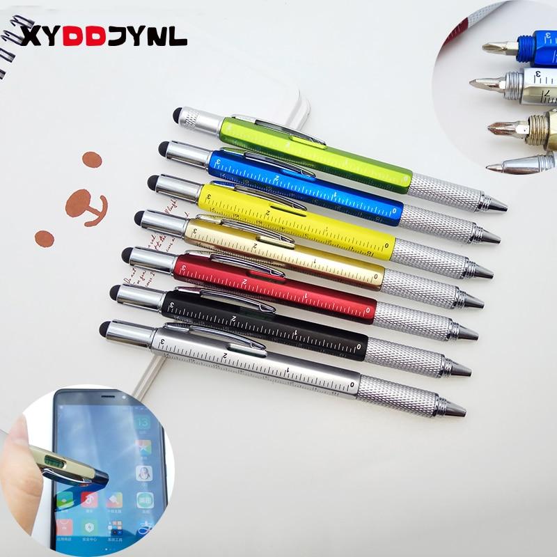 1PC Tool Ballpoint Pen Creative Stationery Screwdriver Ruler Spirit Level Ball Pen Multifunction Canetas Office Promotion Gift