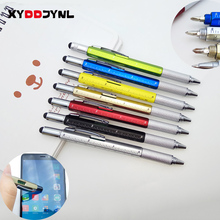 1PC Tool Ballpoint Pen Creative Stationery Screwdriver Ruler Spirit Level Ball Pen Multifunction Canetas Office Promotion Gift(China)