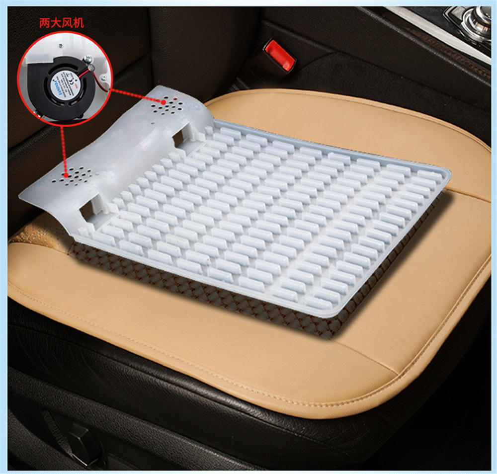 Chunmu Car Seat Cushion Built-in Hair Dryer Heat Dissipation Summer Cooling Front Rear Cushions Breathable Protector Mat Pad