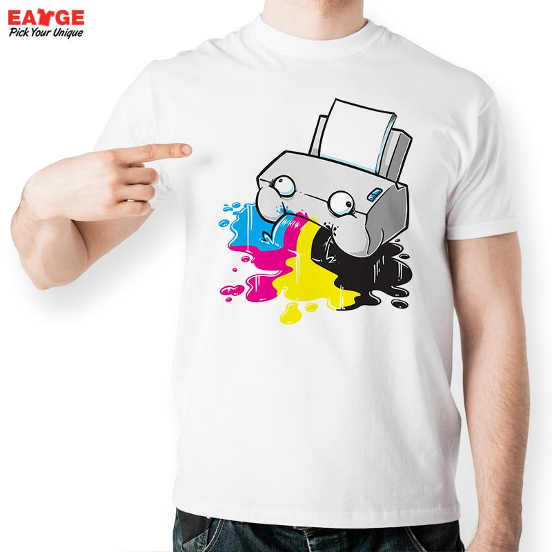 Funny Oh My Printer Vomit Colorful Ink Out T Shirt Design