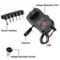 Ac/Dc 3V 6V 9V 12V Mult Adattatore 2A 30W Regolabile Usb 3V 6V 9V 12V Adattatore di Alimentazione Del Caricatore Universale 30W per La Striscia Principale Lampada