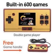 Venta caliente 2.6 Pulgadas Retro Mano Consola de juegos Portátil de videojuegos Classic Console Envío 600 Juegos Gratis Manijas del Juego de Regalo para el cabrito