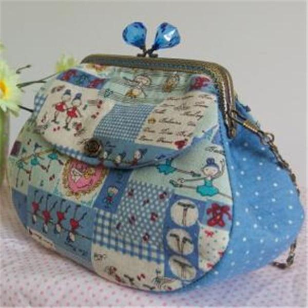 New 2017 Fashion Women Small Shoulder Bag Clutch Handbags Handmade Fabric Bags Lady Handbag Designer