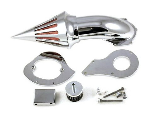 Motorcycle Spike Air Cleaner Intake Air Cleaner Kit Fit For 1999 up Honda Shadow 600 Chrome