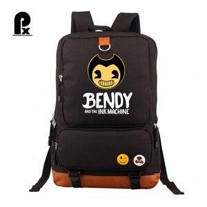 Image 1 - Bendy and The Ink machine Backpack For Teenagers Students Schoolbag Boys Girls  Kids Backpacks Travel Book Bag Mochila Infantil