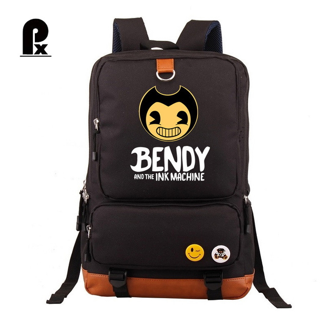 Bendy and The Ink machine Backpack For Teenagers Students Schoolbag Boys Girls  Kids Backpacks Travel Book Bag Mochila Infantil