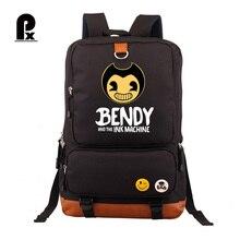 Bendy ve Mürekkep makinesi gençler için sırt çantası Öğrencileri Schoolbag Erkek Kız Çocuklar Sırt Çantaları Seyahat Kitap Çantası Mochila Infantil