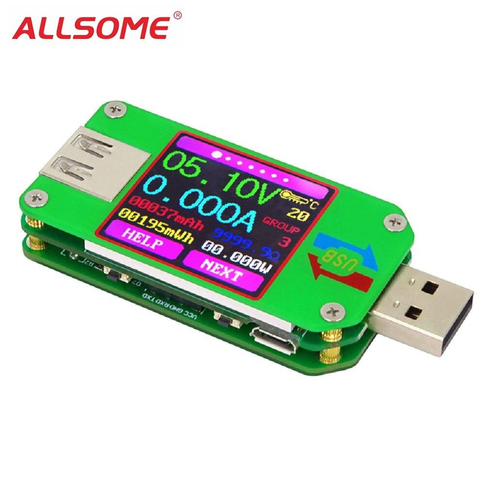 UM24C 2.0 Color LCD Display USB Voltage Tester Universal Current Voltmeter AZ