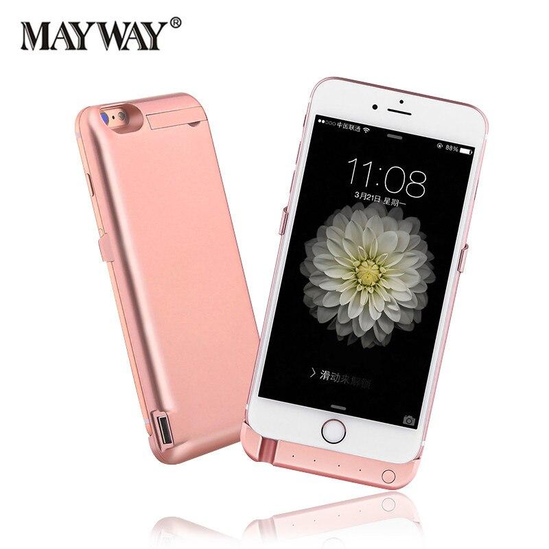 Цена за Для iphone 6 6s 6s плюс 7 7 плюс 4.7/5.5 дюймов Дело Зарядное устройство 10000 мАч Внешнего Резервного Корпус Батареи Резервного Питания Крышка банк