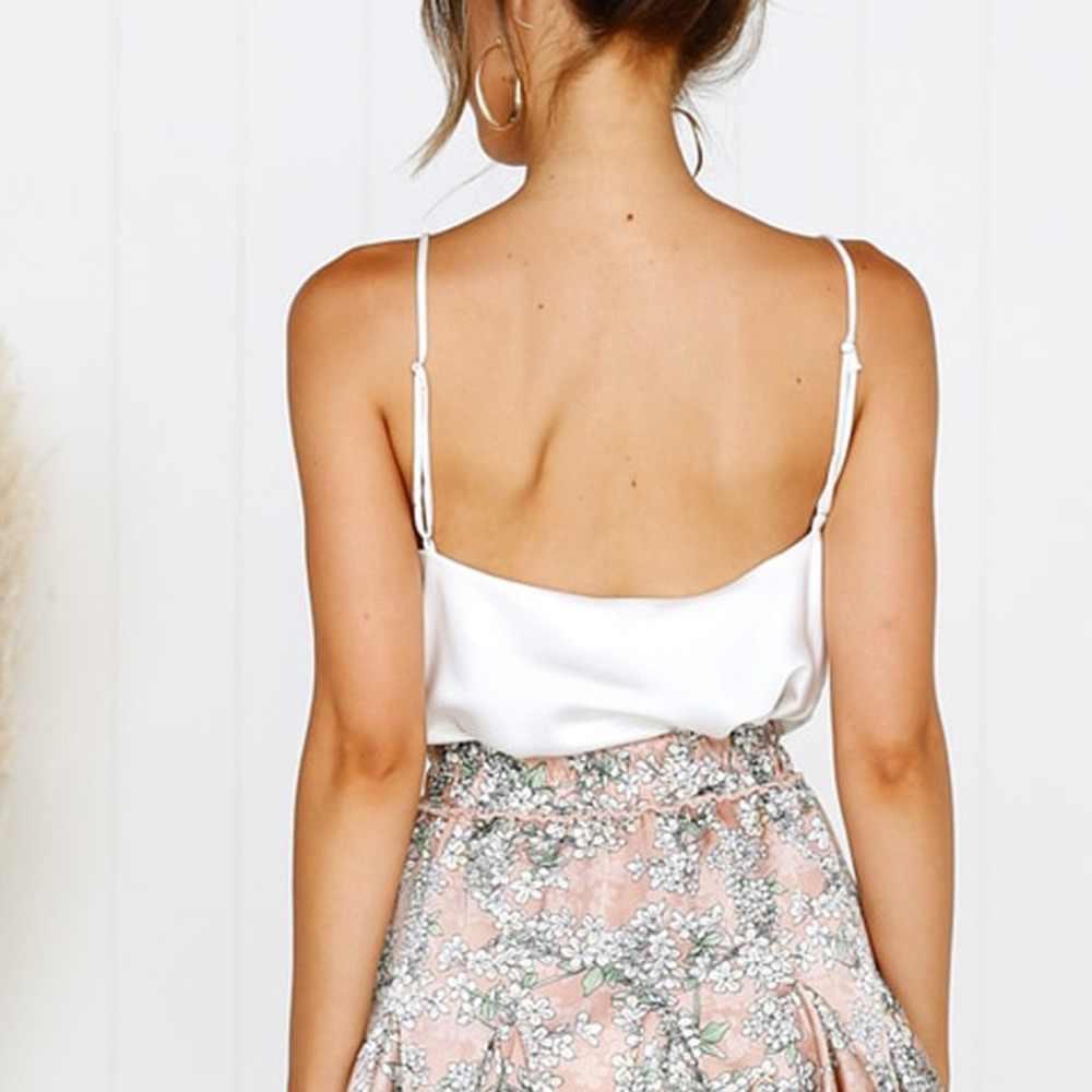 Satin Women Thin Wild Solid Camis Vest Women Tank Tops Female 2019 Summer Sexy Strap Basic Tops Chiffon Sleeveless Camisole