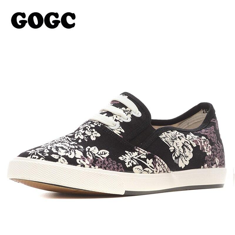 Women S Floral Slip On Platform Canvas Shoes