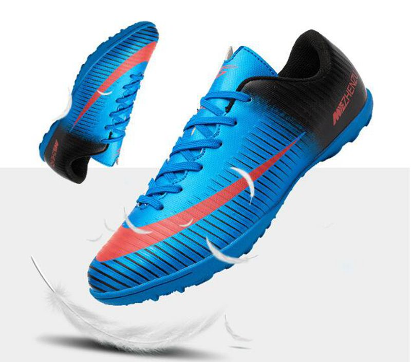 07d4857c8 Professional Men Turf Indoor Soccer Shoes Cleats Kids Original Superfly  futsal Football Boots