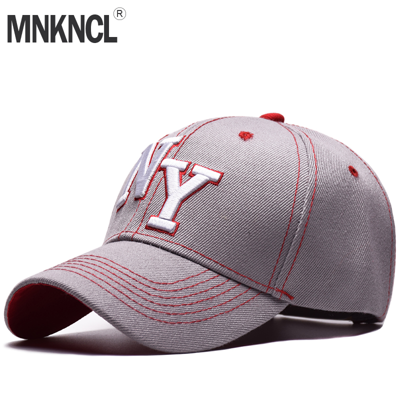 MNKNCL High Quality Unisex 100% Cotton Outdoor Baseball Cap NY Embroidery Snapback Fashion Sports Hats For Men & Women Caps fashion printed skullies high quality autumn and winter printed beanie hats for men brand designer hats